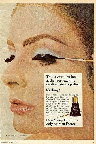 vintage makeup ad | Max Factor Shiny Eye-Liner