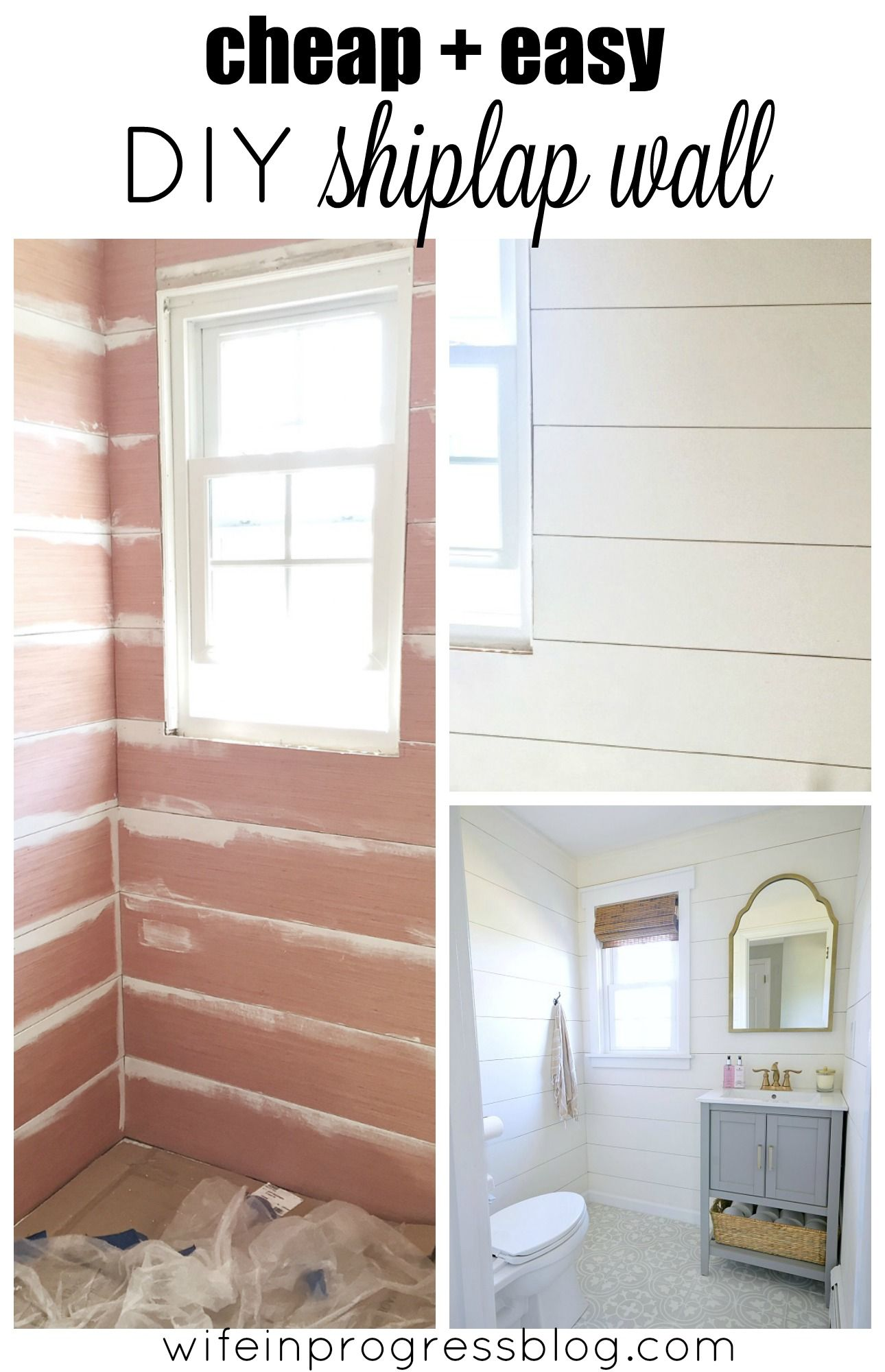 Easy Bathroom Wall Ideas beautiful shiplap walls from cheap plywood | cheap plywood