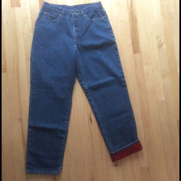 LL Bean Flannel Lined Jeans Red flannel lined LL Bean jeans very warm like new L.L. Bean Jeans