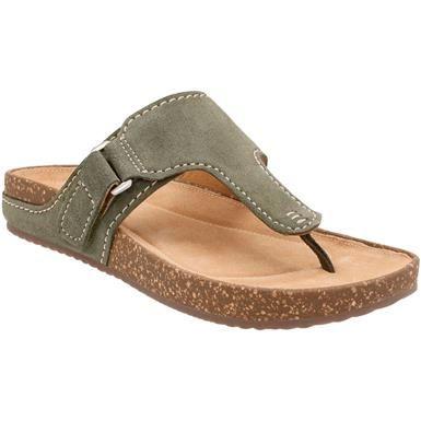 23b1e78e7d559a Clarks Rosilla Dover Flip Flops - Womens Khaki Suede