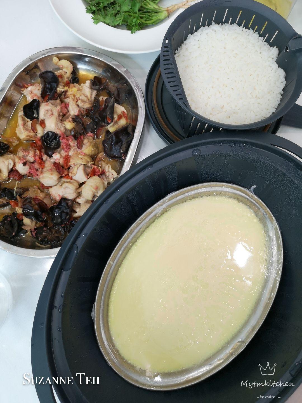 20 in 20 Meal   Steam Silky Egg, Steam Dang Gui Chicken, steam Rice ...