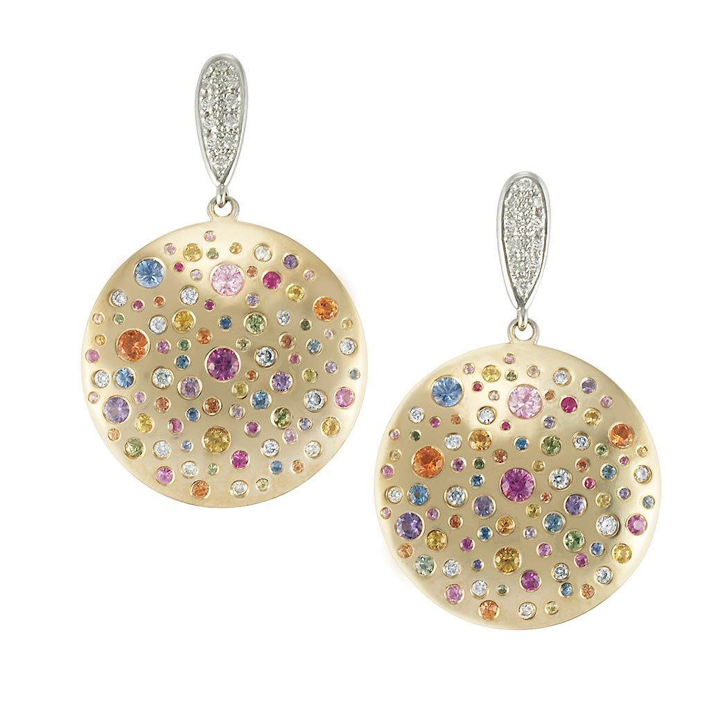 large pin betteridge sapphire multicolored earrings door collection knocker diamond