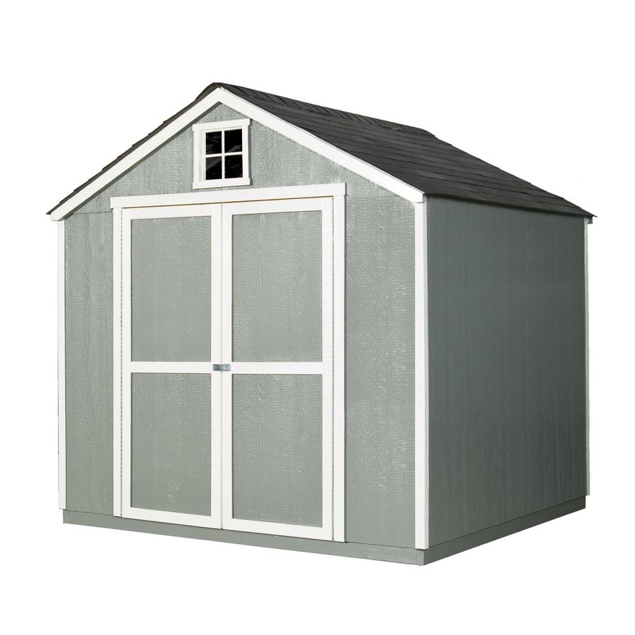 Shop Heartland Belmont Gable Wood Storage Shed (Common: 8 Ft X 8 Ft;  Interior Dimensions: 7.58 Ft X 7.36 Ft) At Lowes.com