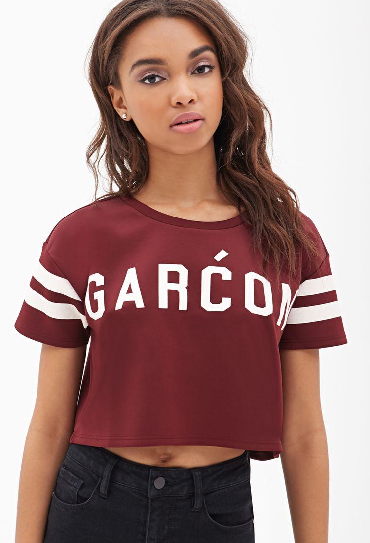 Garćon graphic crop top forever girl you got