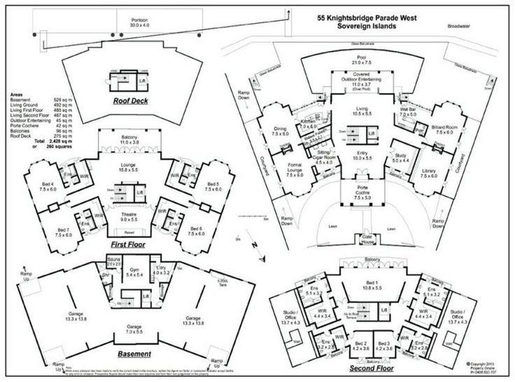 Haddon Sly Mansion Floor Plan Mega Mansions Luxury House Plans