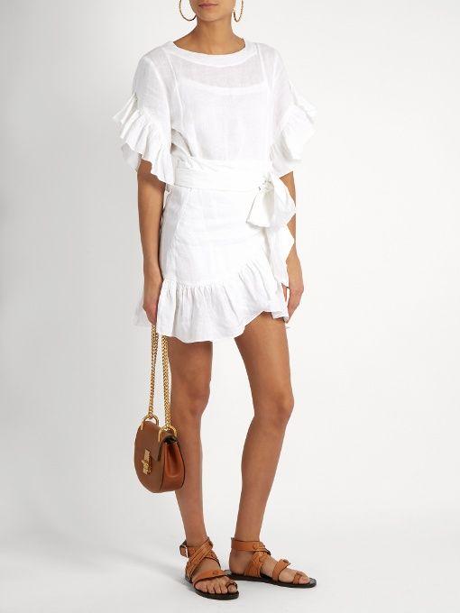 7870dd7c Isabel Marant Étoile Delicia ruffled linen mini dress | Isabel ...