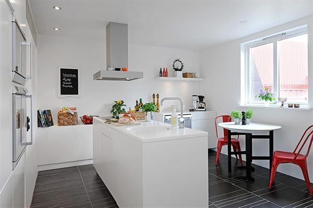 mesadas de cocina blancas - Buscar con Google   Decoración ...