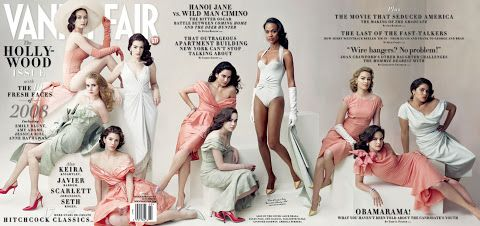 2008 - Emily Blunt, Amy Adams, Jessica Biel, Anne Hathaway, Alice Braga, Ellen Page, Zoë Saldana, Elizabeth Banks, Ginnifer Goodwin, and America Ferrera