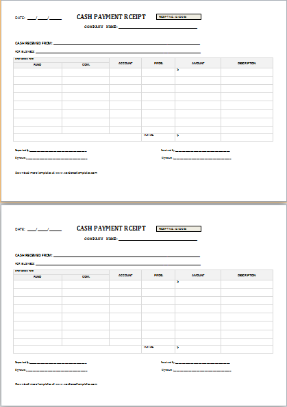 Payment Receipt Template Easy Receipt Making  Payment Receipt Templates