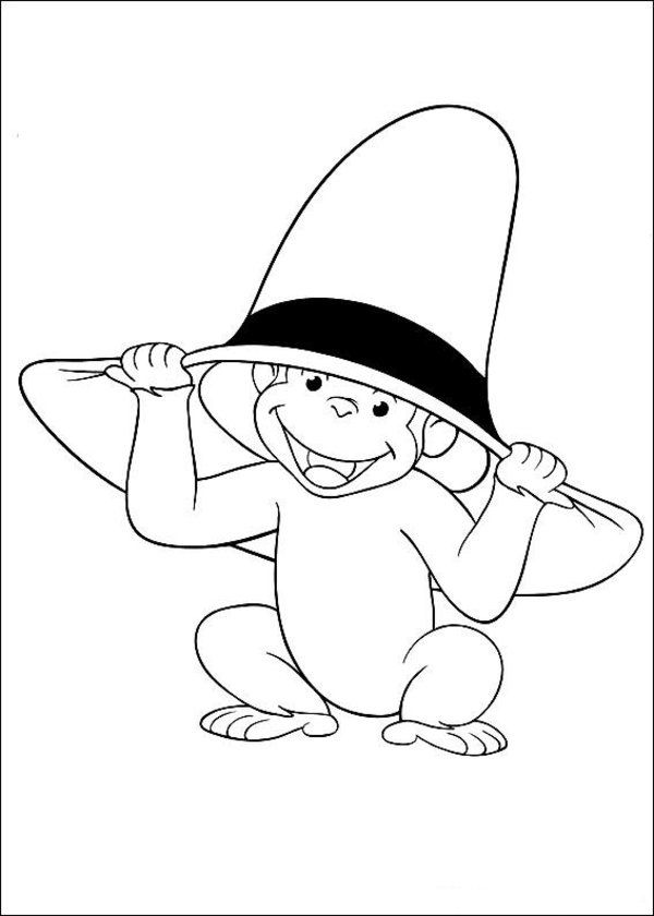 Monkey George Coloring Page