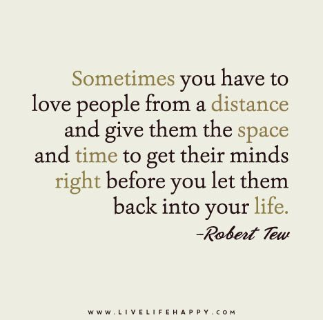 Sometimes You Have To Love People From A Distance Life Quotes