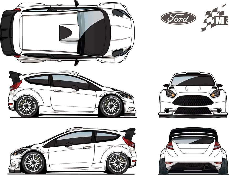 Ford Fiesta Rs Wrc Racing Car Design Cool Car Drawings Car