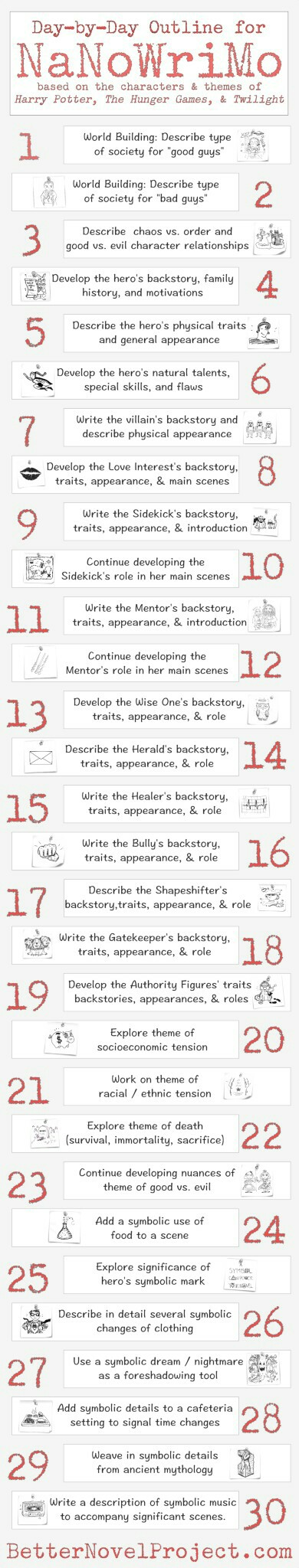 Day by day worksheet for NaNoWriMo | Writing | Pinterest | Schreiben