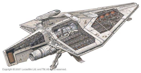 Acclamator I-class assault ship - Wookieepedia, the Star Wars Wiki, Republic Assault Ship.jpg