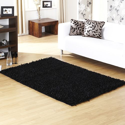 Black Shaggy Rug Google Search Room Pinterest