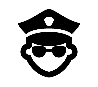 Police Icon In Android Style Icon Android Icons Guy Drawing