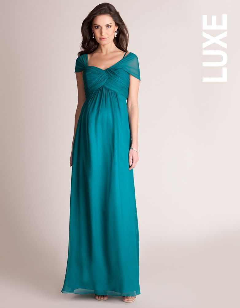 Emerald Silk Multiway Maternity Evening Gown | Seraphine | Shopping ...