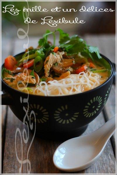 les milles & un délices de ~lexibule~: ~Soupe thaï au poulet et nouilles~