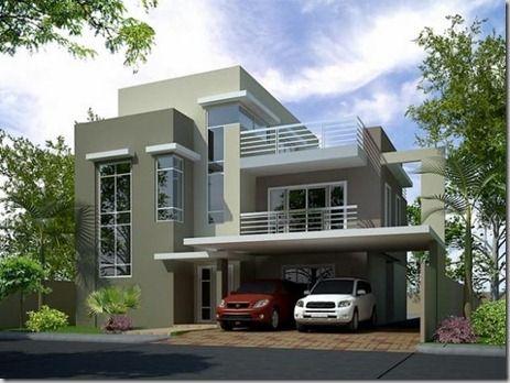 Fachada casas de dos plantas fachada de casa pinterest - Casas modernas economicas ...