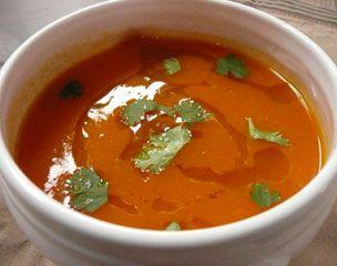 Recette Soupe de potiron au gingembre