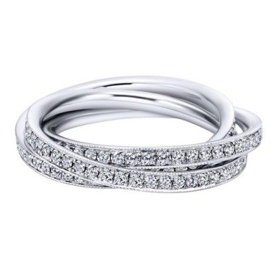 14k White Gold Crisscross Diamond Eternity Band Wedding Day Diamonds Eternity Band Diamond Eternity Bands Anniversary Rings For Her