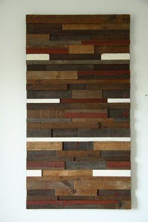 Handmade Reclaimed Wood Wall Art 53 X24