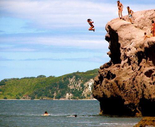 Jump off a clif...