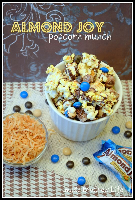 Almond Joy Popcorn Munch I hate almond joys but I know I could gift this...