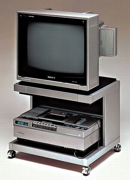 Vintage Photos 1986 Television Entertainment Center in a Model Video House