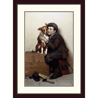 Global Gallery 'Against His Will' by John George Brown Framed Painting Print Size:
