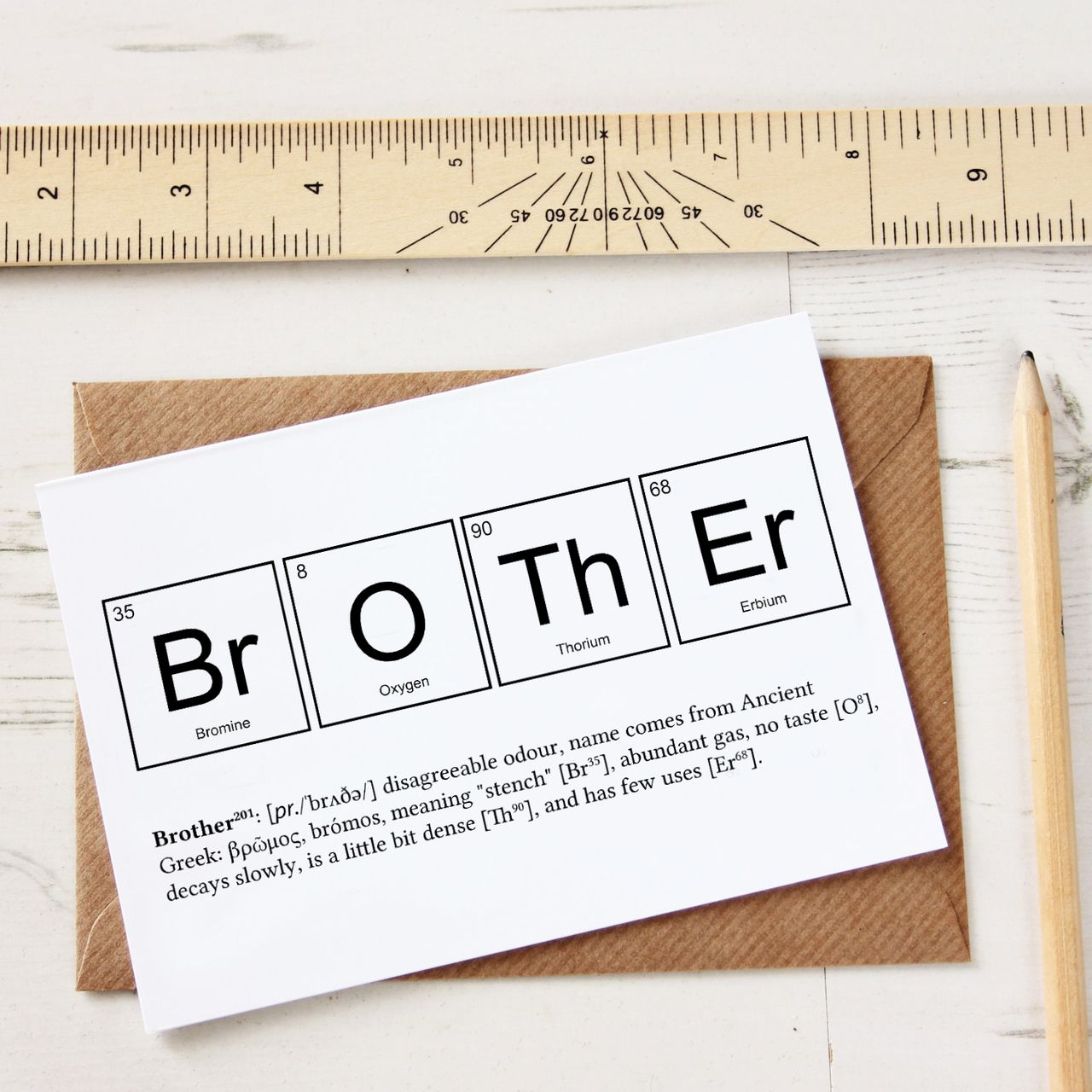 Funny Brother Periodic Table Card Nature And Science Fascinating