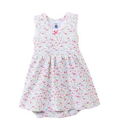 Body robe bébé fille sans manches imprimé fleurs  98339bba1bd