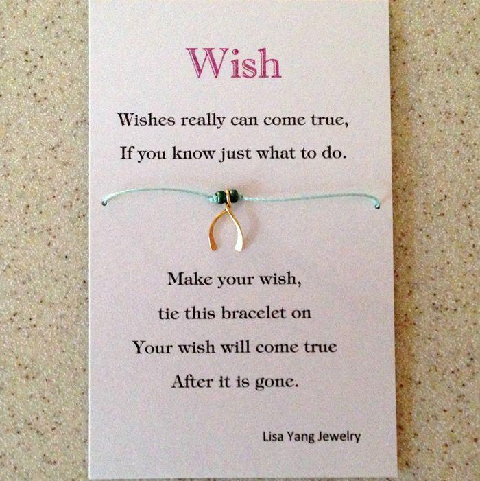 Wish Bracelet Charms Card And Poem Diy Wish Bracelets Lucky Charm Bracelet Bracelets With Meaning