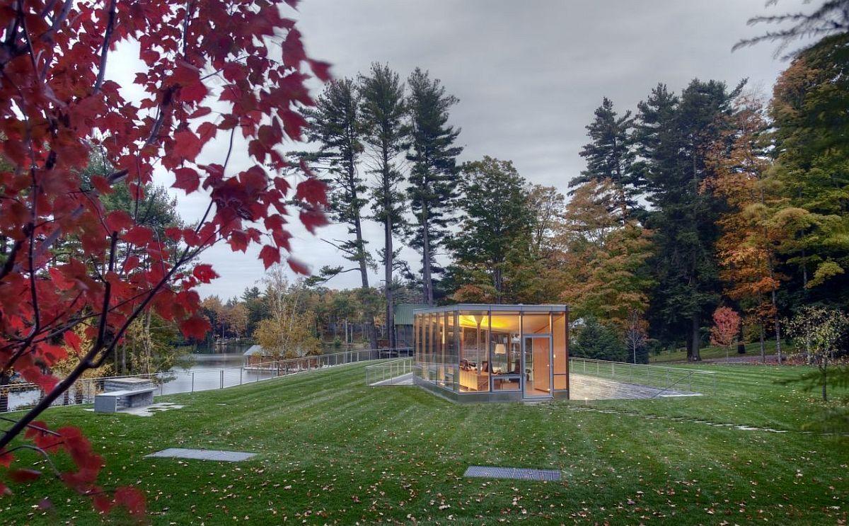 Photo of In die Landschaft geschnitzt: Atemberaubende Freizeiteinrichtung und Büro mit viel Grün, #Ampl …