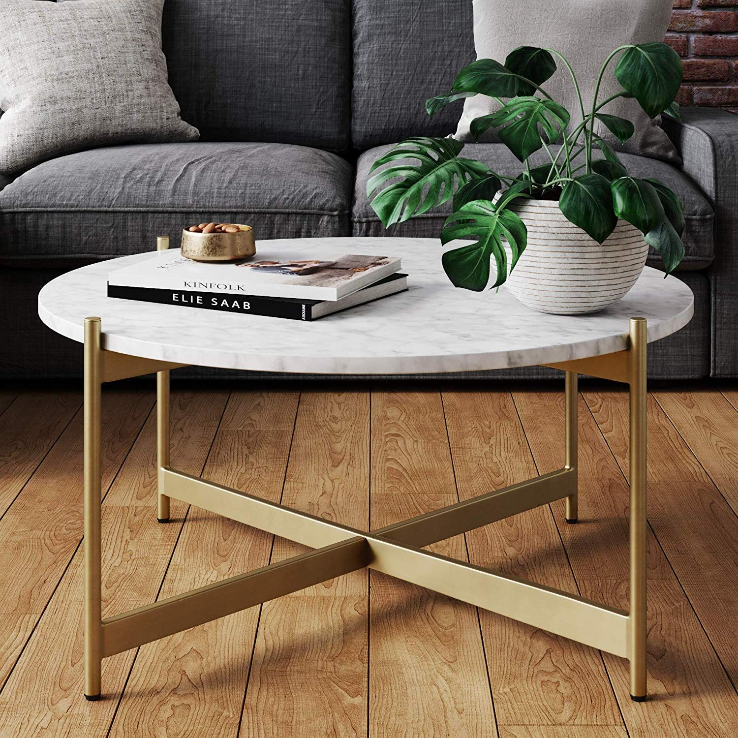 Nathan James Piper Faux Marble Round Modern Living Room Coffee Table Wi With Images Coffee Table Living Room Modern Living Room Coffee Table Round Coffee Table Living Room