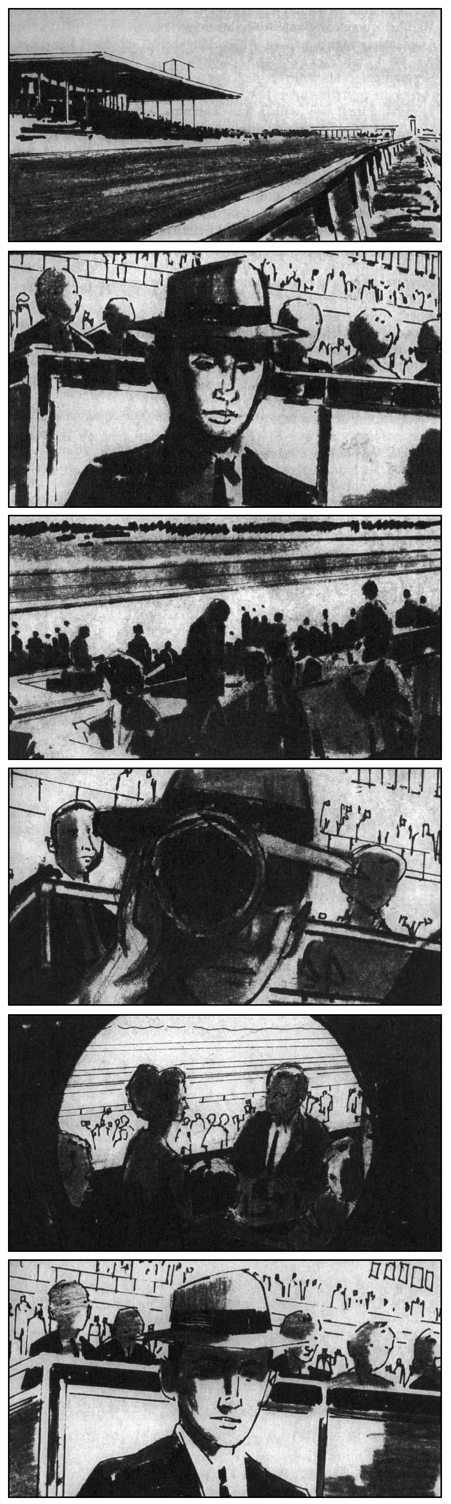 "StoryBoard - Hitchcock's ""Marnie"" (1964)"