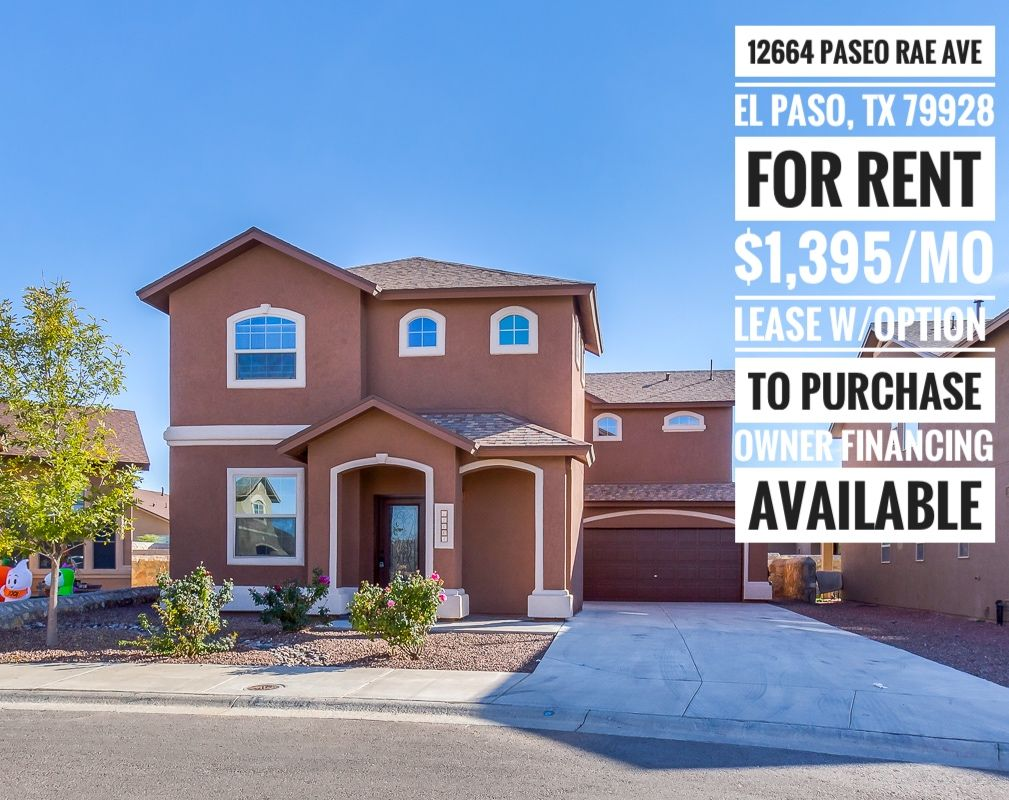 Owner Financing Now Available 915 585 8217 Elpaso Elpasotx Itsallgoodep Familyhome Rental Rentalproperty Pr Renting A House Rental Property Property