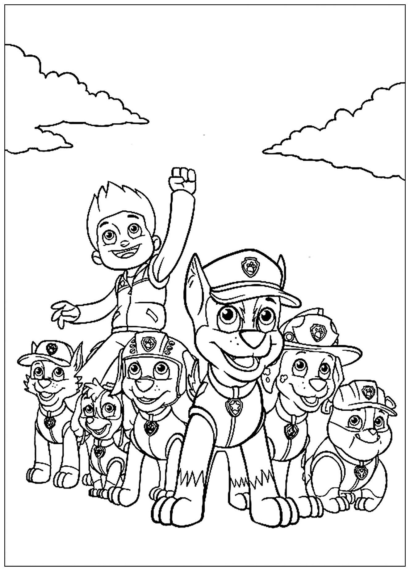 Simple Paw Patrol Coloring Page To Print And Color For Free From The Gallery Paw Patrol Paw Patrol Coloring Pages Paw Patrol Coloring Minion Coloring Pages [ 1848 x 1328 Pixel ]