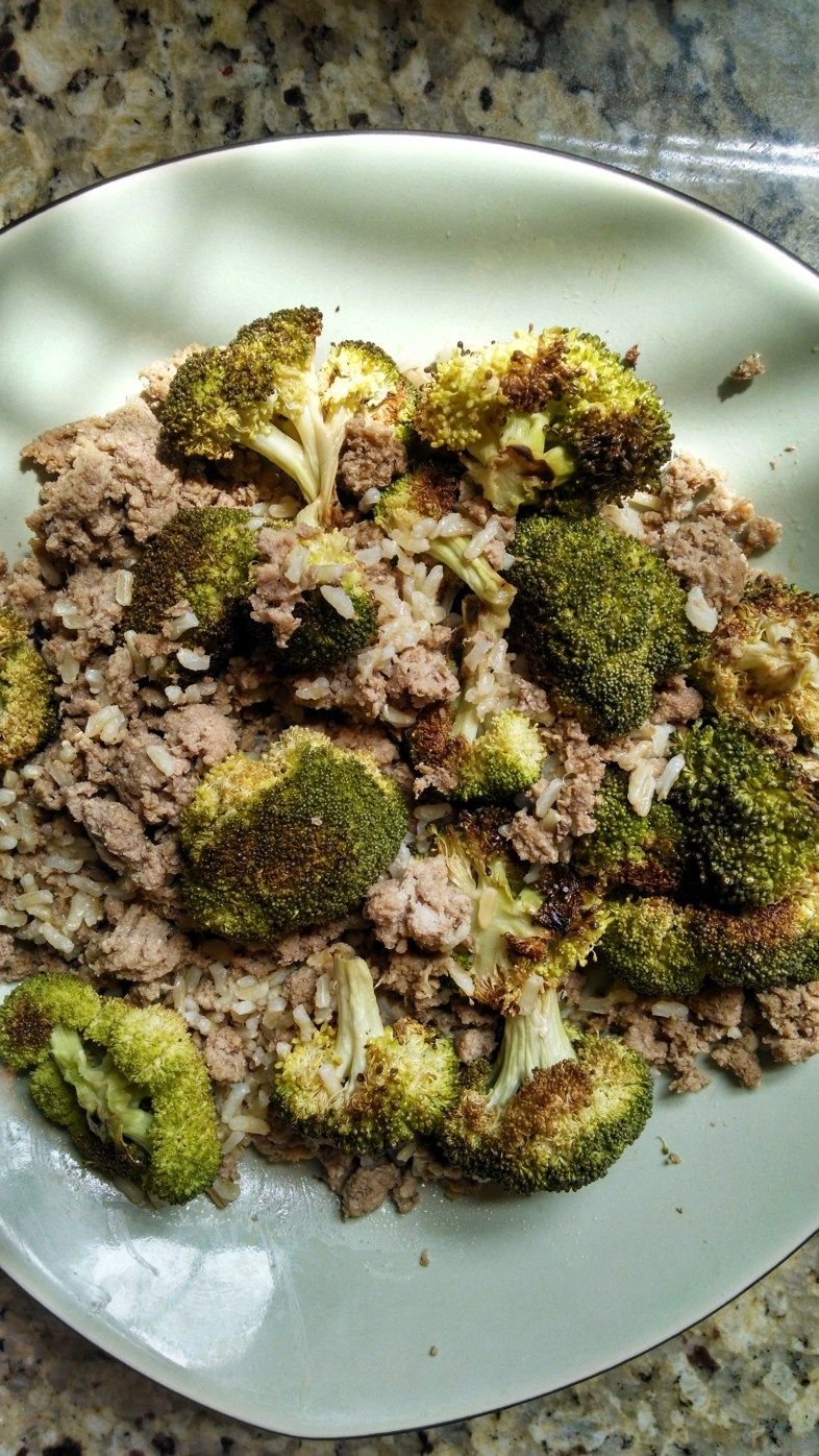 21 Day Fix - Ground Turkey, Roasted Broccoli, and Brown Rice