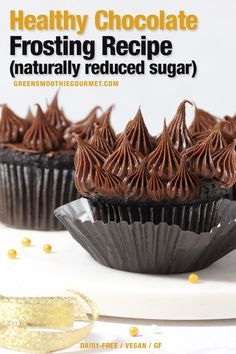 Healthy Chocolate Frosting (reduced sugar). Lower in sugar and higher in nutrition then the average frosting.  Healthy Chocolate Frosting (reduced sugar). Lower in sugar and higher in nutrition then the average frosting.