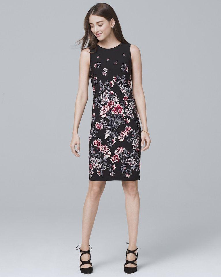 5f1baa7b Women's Reversible Floral-Print Sheath Dress by White House Black Market