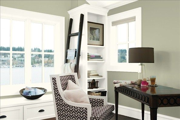 traditional home office wall accent wall color tree on best colors for office walls id=79508