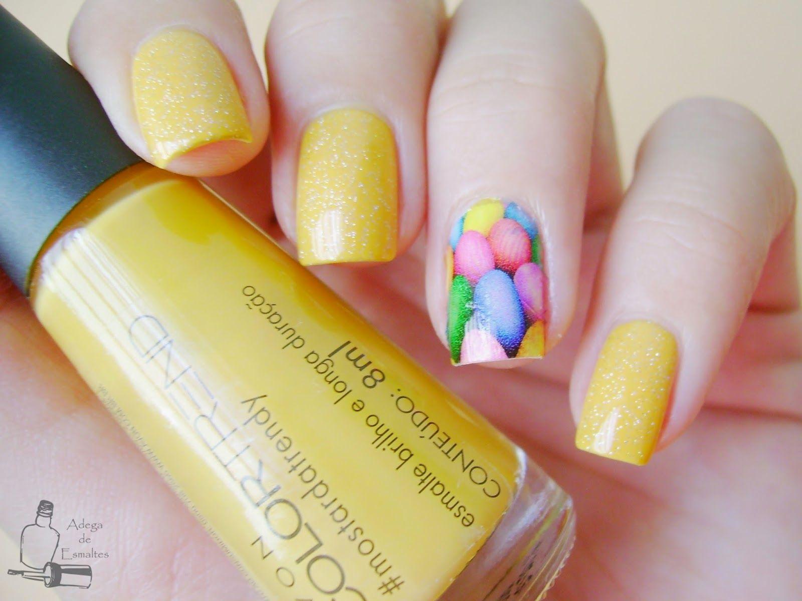 adega de esmaltes unha de páscoa com mostardatrendy nail art