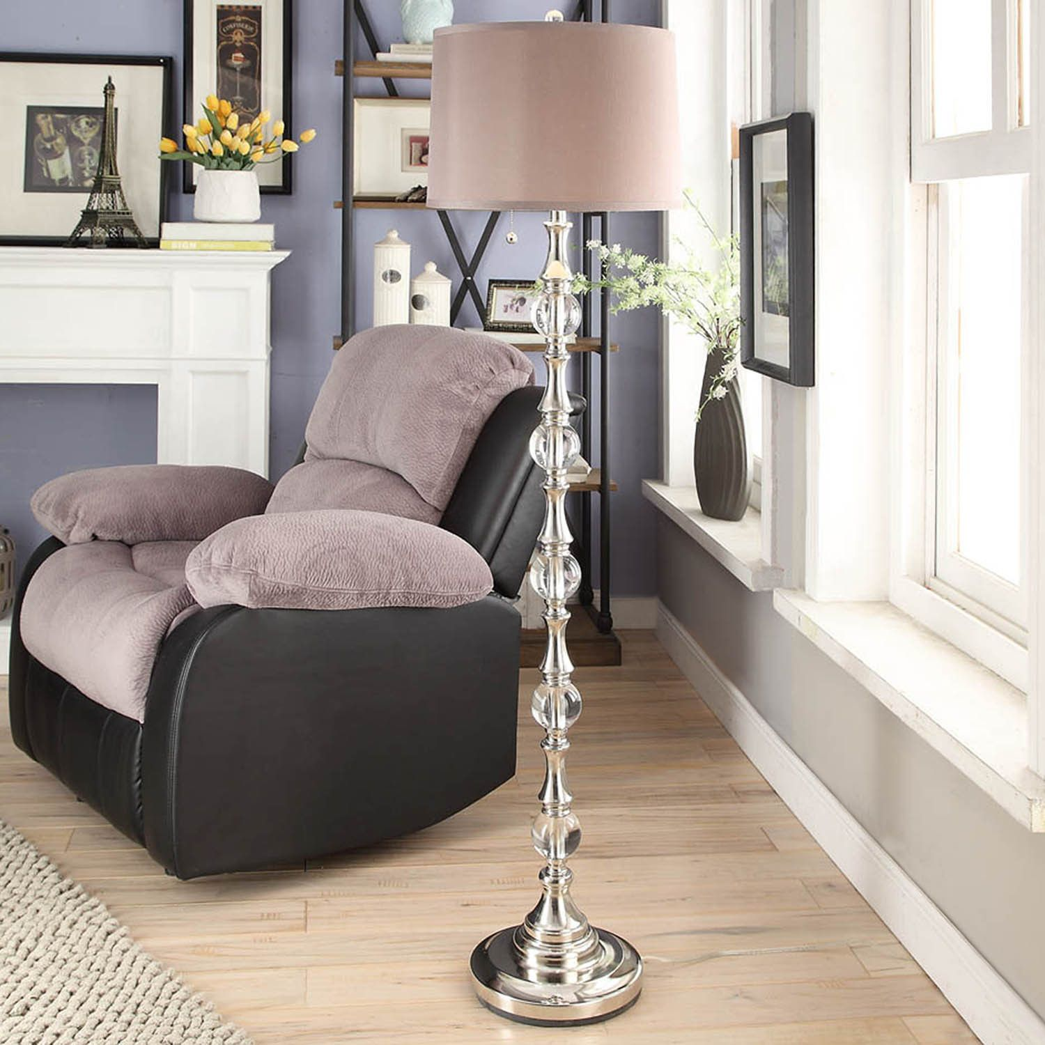 Alric Glass Orb 2-light Accent Floor Lamp by iNSPIRE Q Classic by iNSPIRE Q