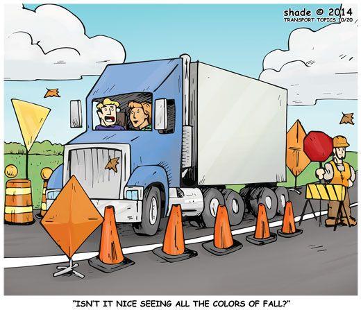 Truck Driver Cartoons Jokes