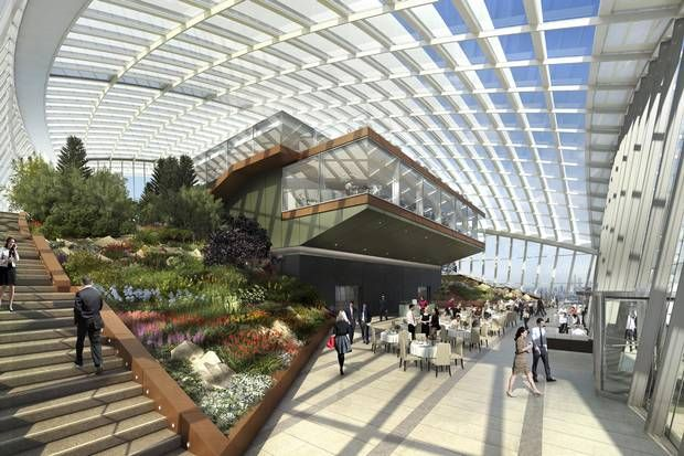 First View Of Europe S Highest Roof Garden An Oasis On Top Of The Walkie Talkie Tower London News London Eveni Sky Garden Things To Do In London London