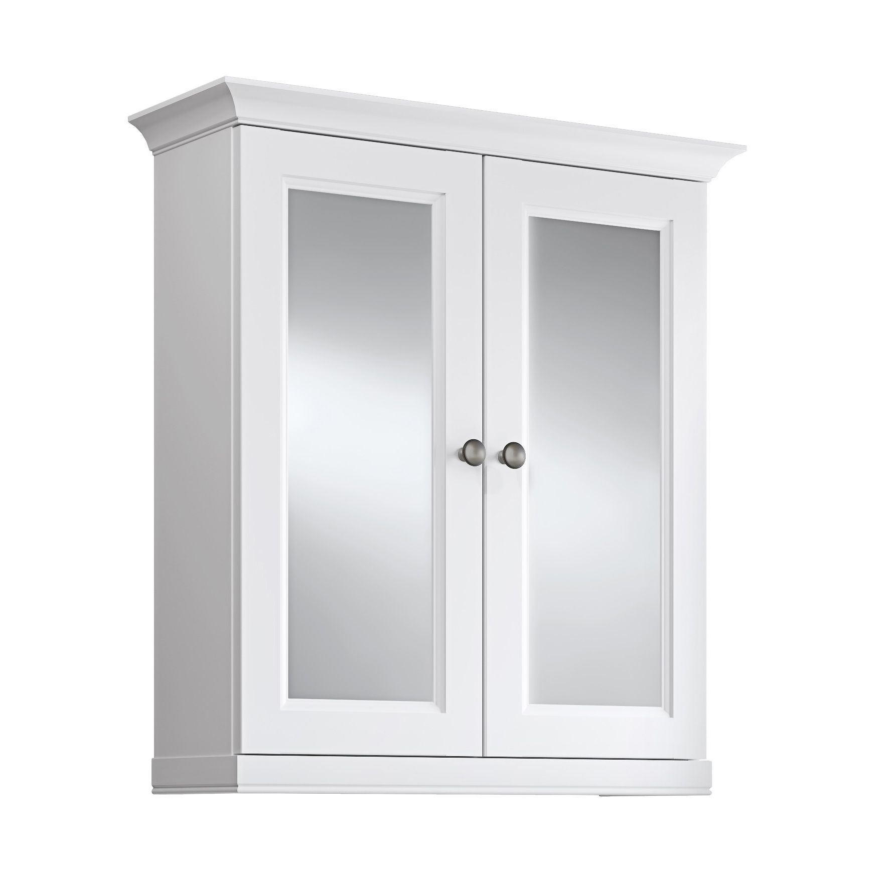 Cooke U0026 Lewis Chadleigh Double Door White Matt Mirror Cabinet | Rooms | DIY  At Bu0026Q