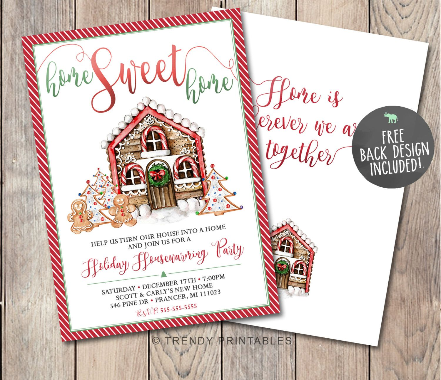 Christmas Housewarming Party Invitation, Housewarming Invitation, Our New Home, Christmas