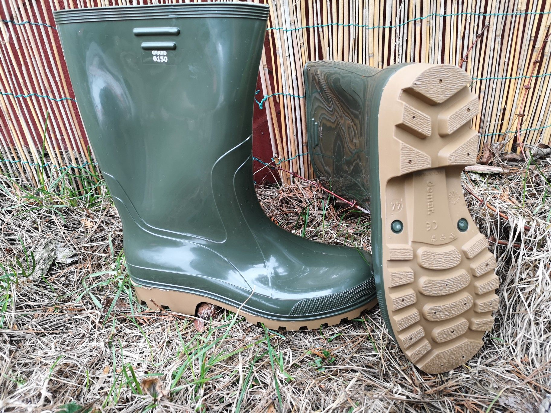Kalosze Grand Zielone Firmy Demar Rain Boots Biker Boot Boots