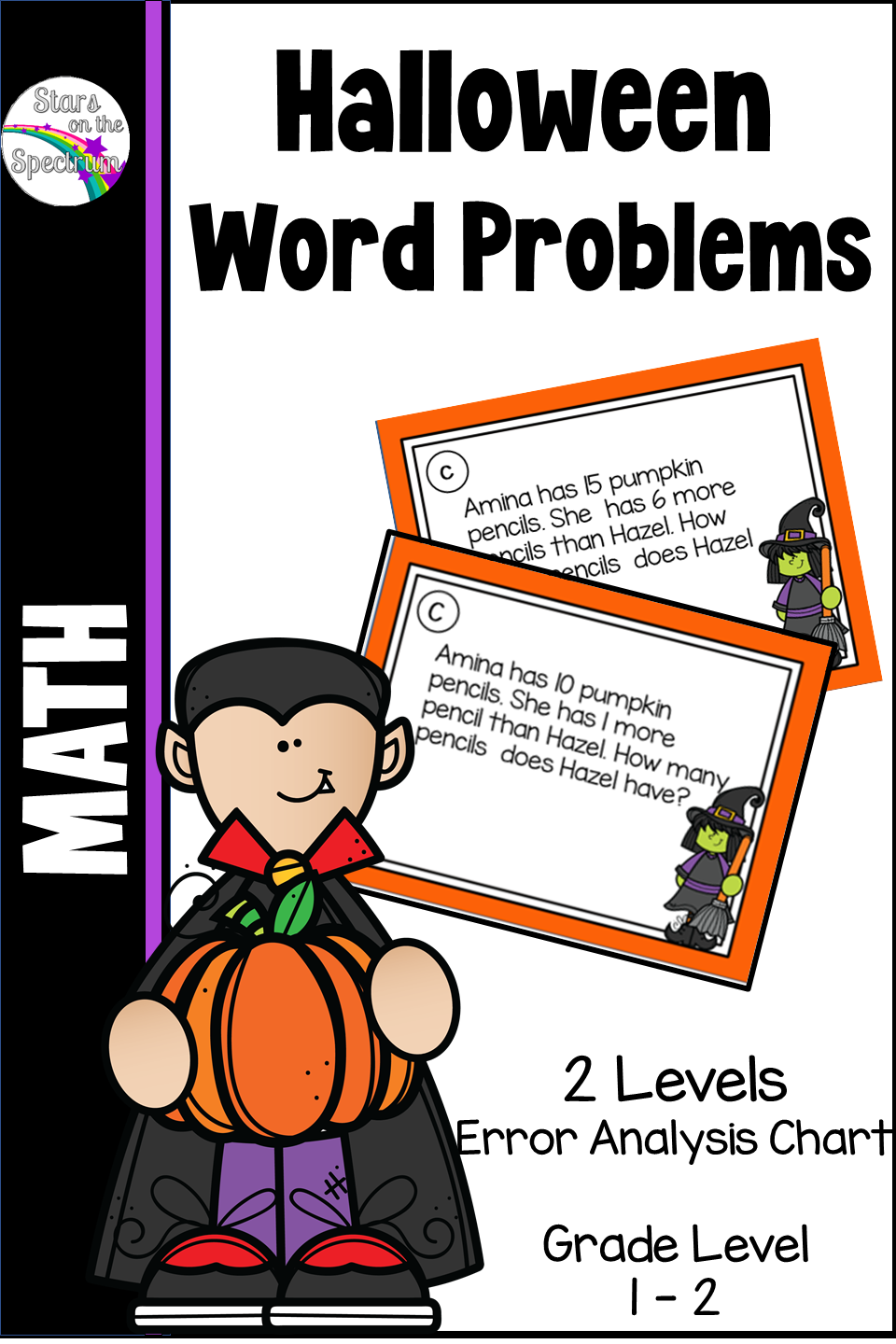 This Resource Contains 11 Different Types Of One Step Word Problems With A Halloween Theme Use Them To Pl Word Problems Halloween Activities Teacher Resources [ 1440 x 960 Pixel ]